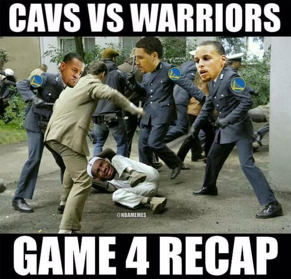 GAME 4 RECAP: Warriors vs. Cavs. - http://nbafunnymeme.com/nba-memes/game-4-recap-warriors-vs-cavs-4