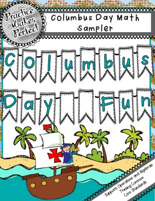 FREE Columbus Day Fun: Missing Number Worksheet/Color by Number Worksheet from Practice Makes Perfect on TeachersNotebook.com -  (5 pages)  - These worksheets are a fun addition to correlate with your Columbus Day activities. Differentiated with two worksheets, one is find the missing number and one is strictly sums and differences.