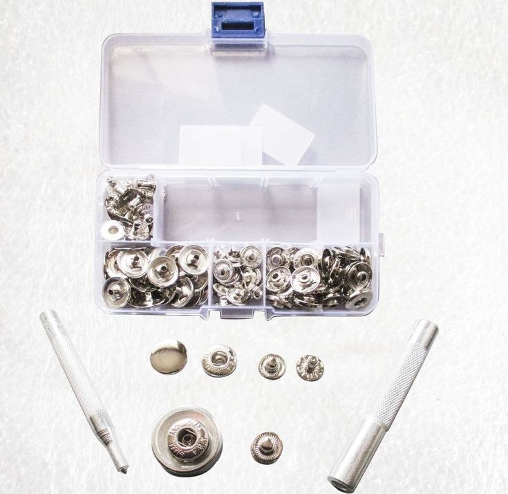 15mm Snap fasteners Press studs with hand setters, hole punch in case #Jaszitupleatheraccents