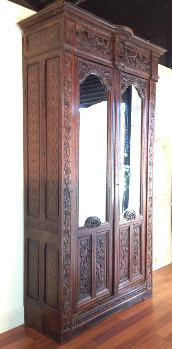 Antique French Oak Heavily Carved Armoire Fd032 Main Pin It More Photos  Below Antique French Oak - 33 Best Armoires And Wardrobes Images On Pinterest