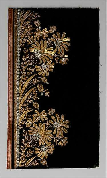 Embroidery samples for a man's suit, French 1800-1815