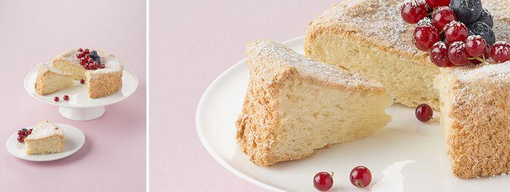 Angel cake, le gâteau invisible, léger en bouche et très peu calorique ( à arroser de confiture, crème caramel ou crème anglaise pour plus de goût )