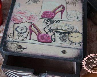Caja de joyería, caja del maquillaje, caja de baratijas