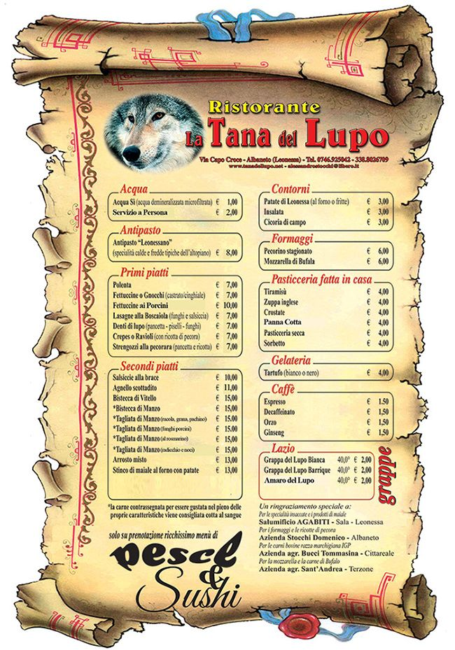 Ristorante B&B La Tana del Lupo - Albaneto Leonessa
