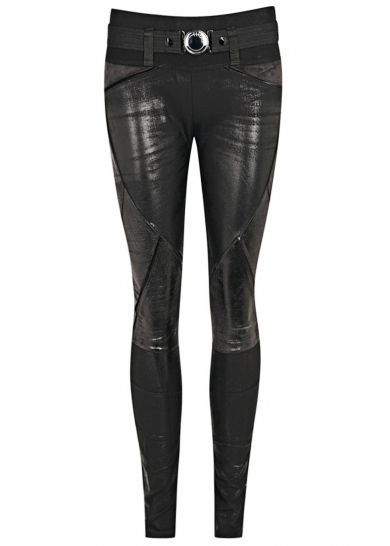 Black coated panelled jersey leggings - Harvey Nichols #style #fashion