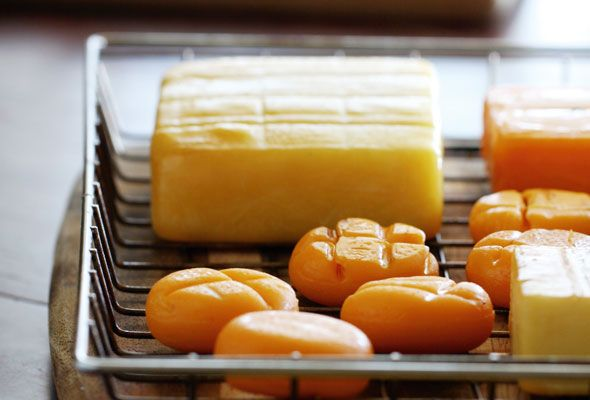 Smoked Cheddar Cheese — home-smoked mozzarella also a great choice for this recipe
