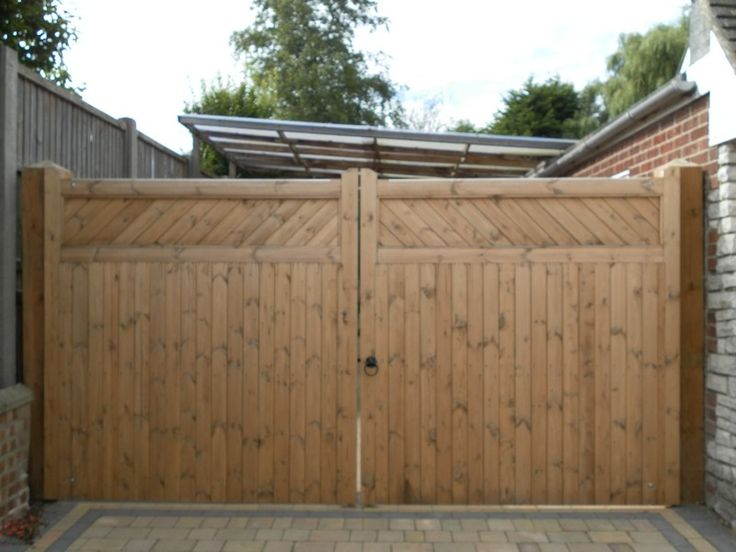 Wooden Fence Driveway Gate images