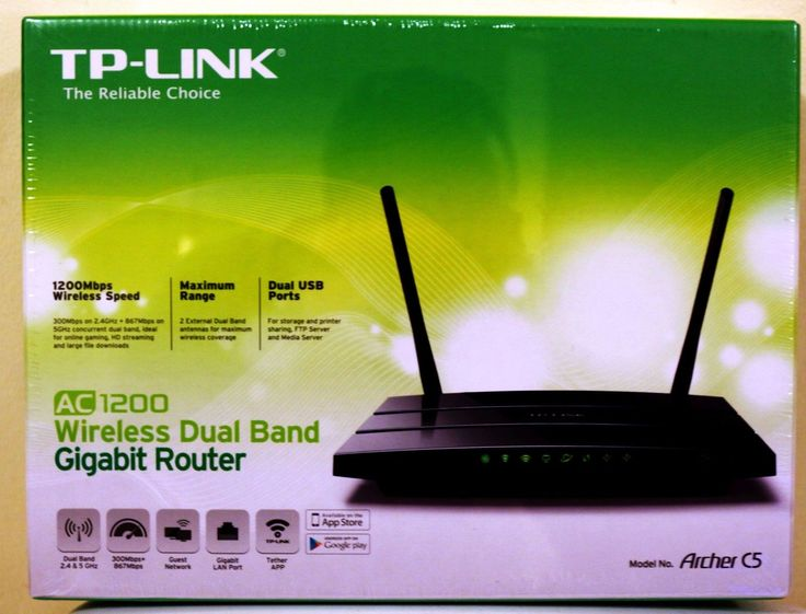 NEW TP-Link Archer C5 AC1200 Wireless Dual Band Gigabit Router 100% RATED SELLER