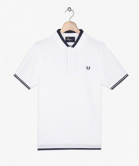 Fred Perry - Polka Dot Trim Shirt