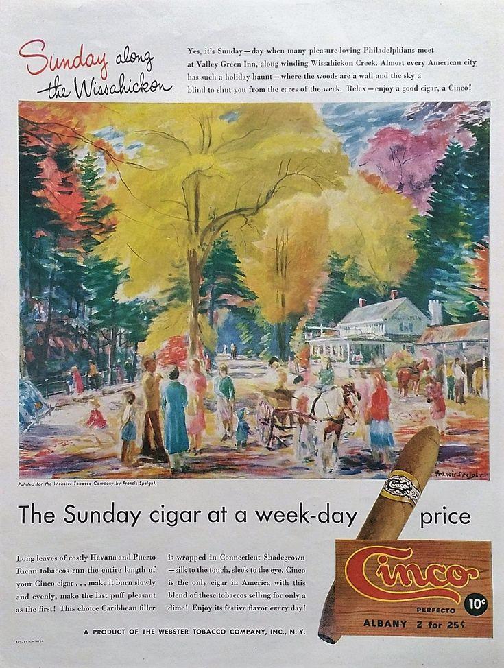 1947 Cinco Cigars Magazine Advertisement - Vintage Cigars Ads, Magazine Advertisement, Advertising Print Ads, Vintage Original  Magazine Ads by Inkart on Etsy