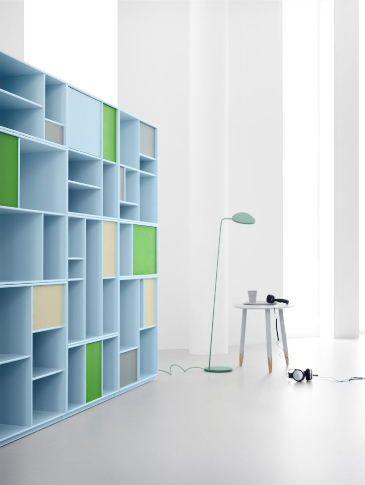 Library in light blue. #montana #furniture #danish #design #furniture #storage #interior #inspiration #interior #indretning #inredning #einrichtung #library #home