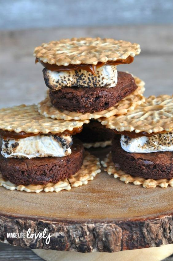 Brownie-Pizelle S'mores Recipe. @MakeLifeLovely via FirstForWomen.com.