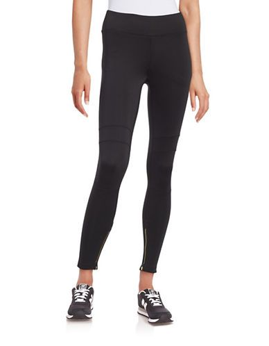 Calvin Klein Performance Zip-Cuff Athletic Pants Women's Black X-Large