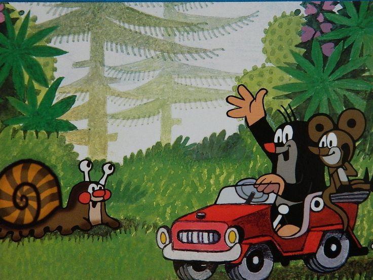 (2015-02) Muldvarpen og musen kører bil og vinker til sneglen