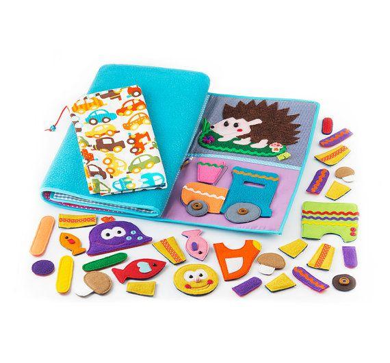 Developing Baby Play Mat busy mat Felt Play Mat Baby di MiniMoms