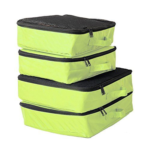 Next Stop Packing Cubes - 4pc Travel Organizers * Remarkable product available now. : Camping equipment
