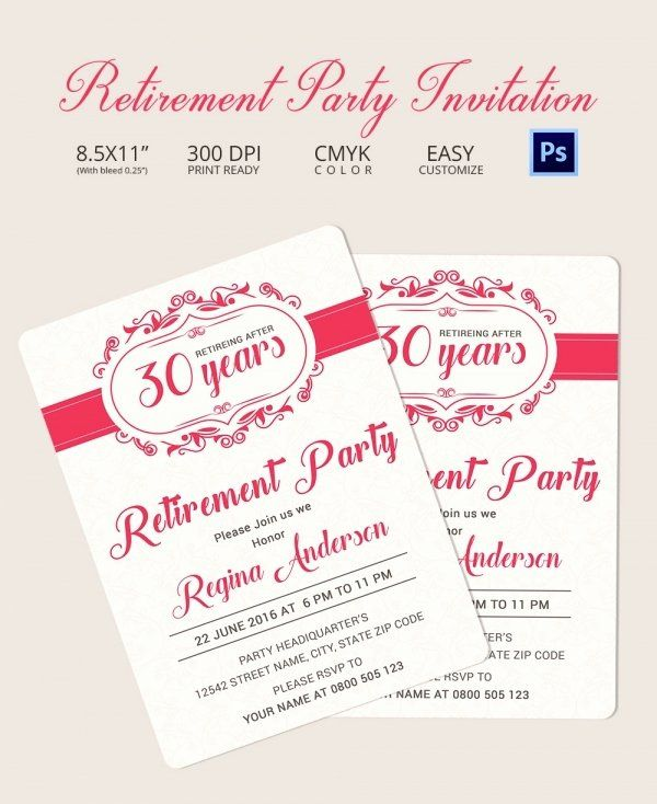 Best Of Retirement Dinner Invitation Template In 2020 With Images