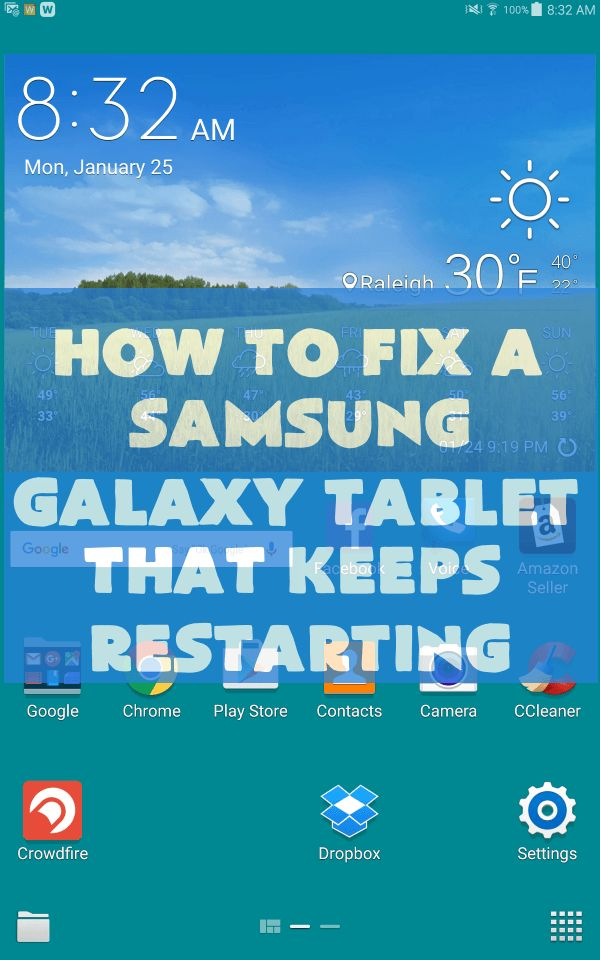 How to Fix Samsung Galaxy Tablet Restarts On Its Own
