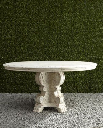 Round Dining Table & Neoclassical Dining Chair - Horchow
