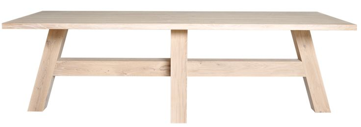 Pilat & Pilat PP-10 Tafel Ingewassen eikenhout - 180 x 90 x 76 c ...