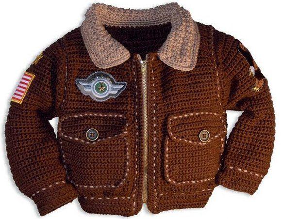 Вязаная куртка для мальчика. Куртка