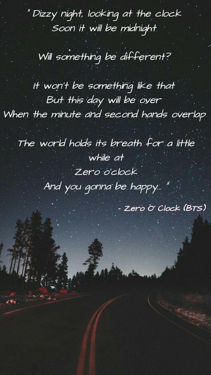 Zero O Clock Bts In 2020 Bts Song Lyrics Bts Lyric Bts Lyrics Quotes