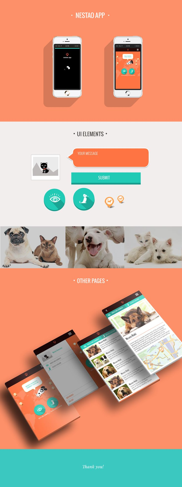 Nestao a mobile app for lost pets on Behance