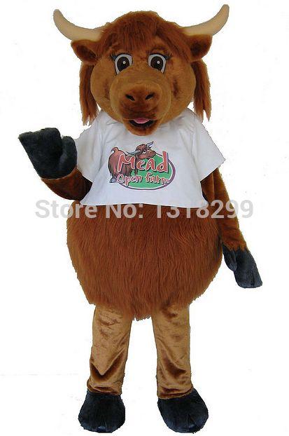 Талисмана парк хайленд корова костюм талисмана необычные платье на заказ необычные костюмы для косплея стиль mascotte карнавальный костюм комплекты