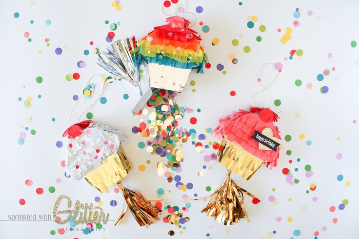 Sprinkled With Glitter: Mini Pinatas - We R Memory Keepers Party Week