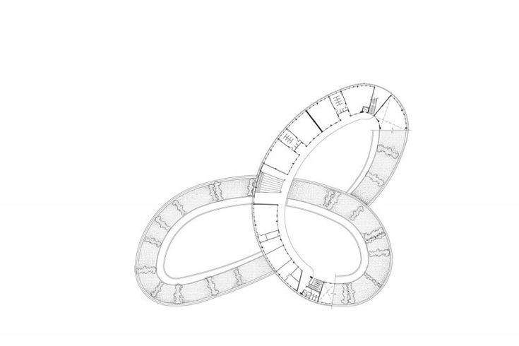 二樓平面圖;圖片提供/Vo Trong Nghia Architects