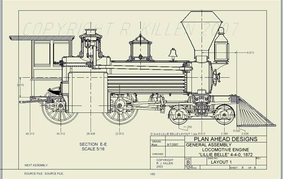 Plan Ahead Designs Live Steam Locomotive Model