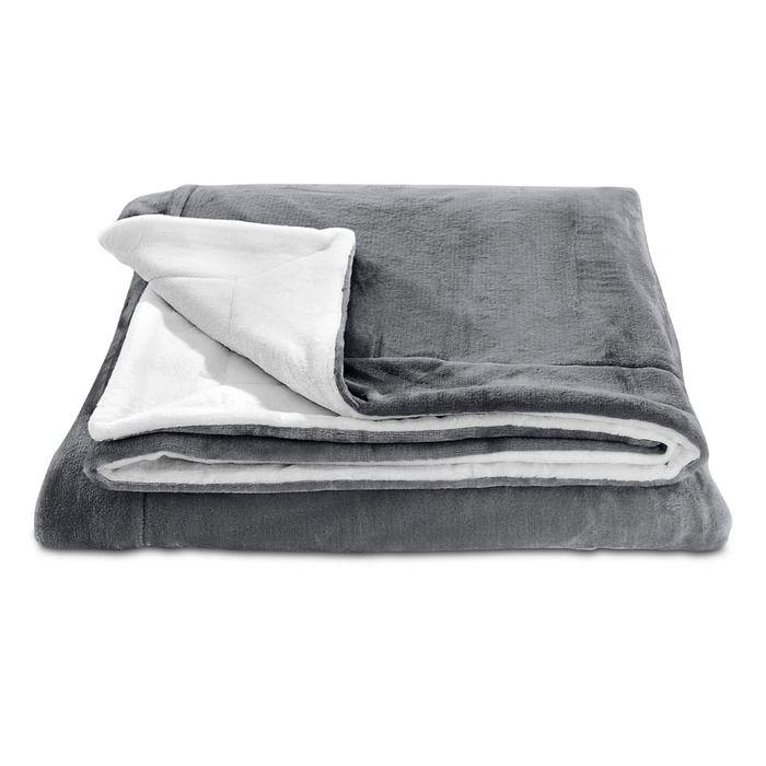 S Oliver Kuscheldecke Double Soft 150 X 200 Cm Grau Polyester In