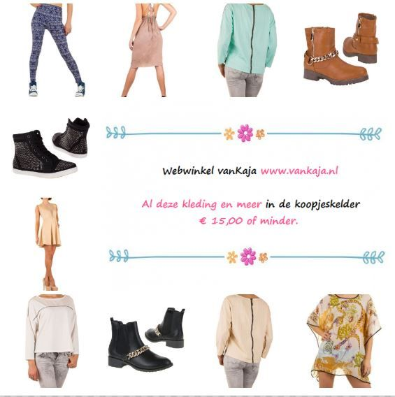 Deze en nog meer mooie en betaalbare mode vind je op www.vankaja.nl