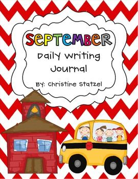 A writing prompt for every day of the month!: Homeschool Writing, September Daily, Daily Writing, Auguste September, Art Journals, Classroom Writing, Entire Month, Month Repin, Writing Journals
