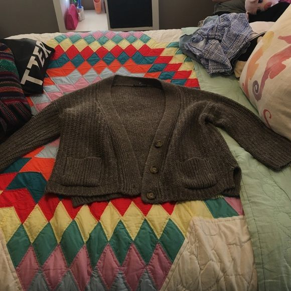 Brandy Melville cardigan This is a grey knit cardigan from brandy melville and it has never been worn Brandy Melville Sweaters Cardigans