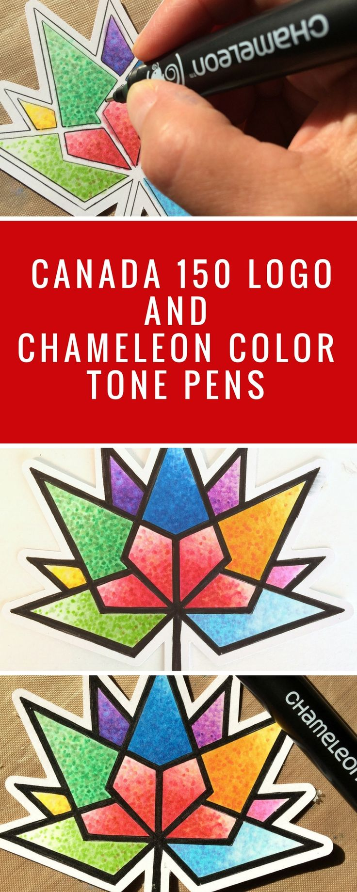 Canada 150 Logo | Design With Chameleon Pens | Download FREE Canada 150 Logo | Adult Coloring  #adultcoloring #coloring #canada150