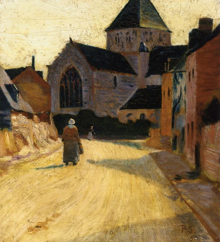 Woman in a Street by @paulserusier #postimpressionism