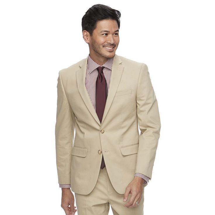Men's Van Heusen Flex Slim-Fit Suit Jacket, Size: 46 - regular, Beige Oth