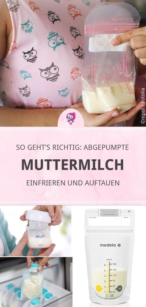 Muttermilch einfrieren und auftauen – Andrea Sperling