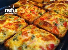 Kaşarlı peynirli domatesli fırında nefis ekmekler