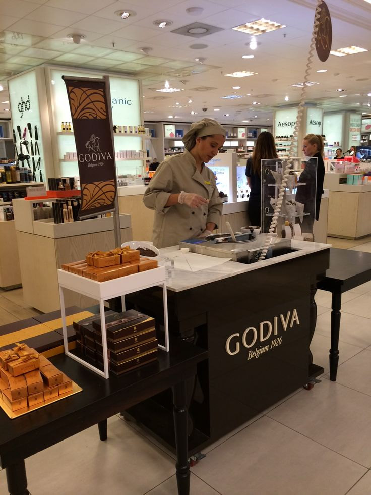 Our new godiva walk way in selfridges is now ready and for Go diva