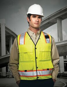 Tri-mountain Safety Workwear Level Windproof/ Water Resistant Vest