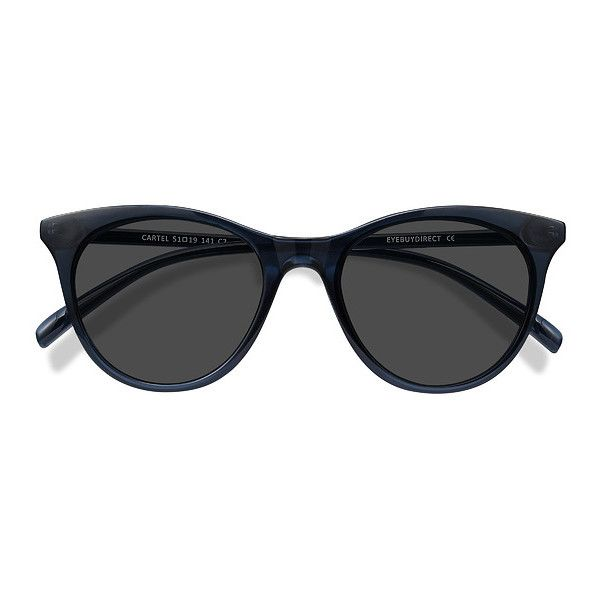 Women's Cartel - clear navy oval plastic - 19615 Plastic Rx Sunglasses ($22) ❤ liked on Polyvore featuring accessories, eyewear, sunglasses, navy sunglasses, oval sunglasses, oval glasses, navy blue glasses and plastic sunglasses