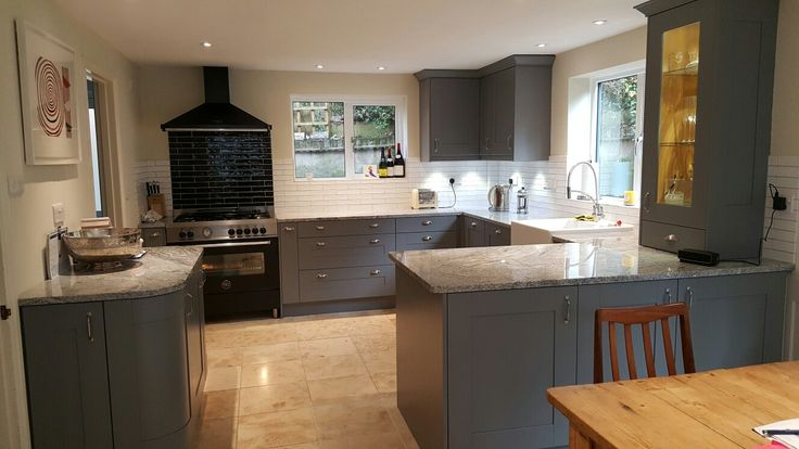 Wickes Tiverton Slate kitchen with Granite worktops...designed by Ivan Ainslie-Brown (Andover store)