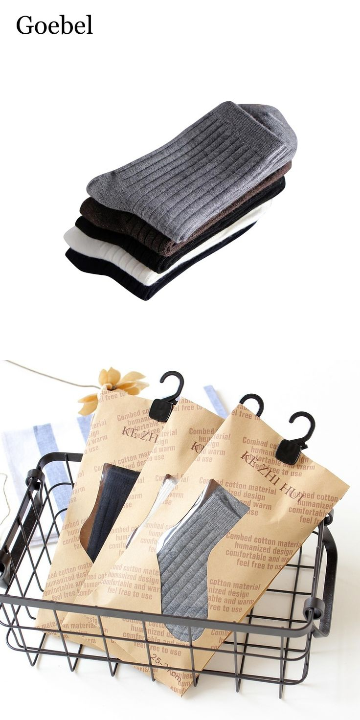 Goebel Man Wool Socks Fashion Solid Color Men Business Socks Breathable Comfortable Male Tube Socks 1pair/lot