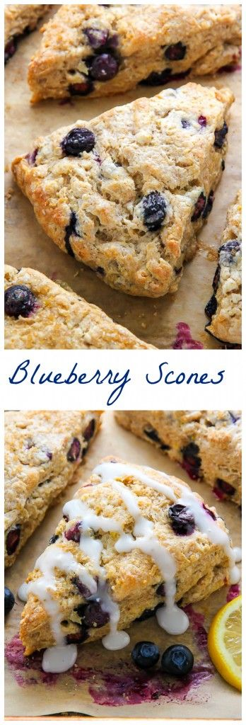 Lightened up Greek yogurt blueberry scones infused with lemon flavor and topped with a sweet lemon glaze. Simply irresistible!