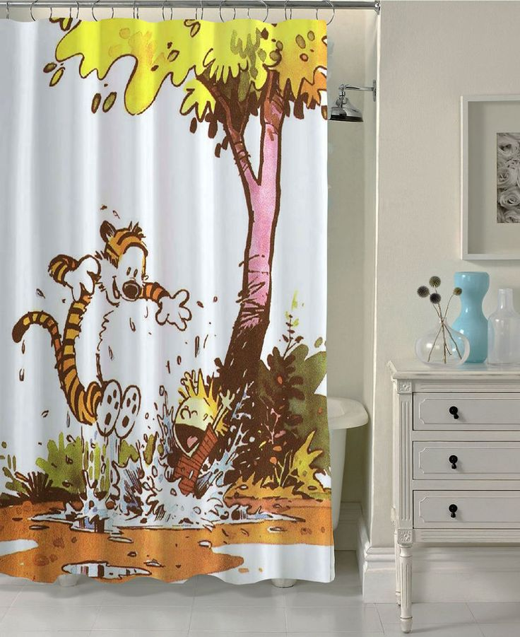 Calvin and Hobbes Custom Shower Curtain Waterproof High Quality 60x72 #Unbranded #Modern #Cheap #New #Best #Seller #Design #Custom #Gift #Birthday #Anniversary #Friend #Graduation #Family #Hot #Limited #Elegant #Luxury #Sport #Special #Hot #Rare #Cool #Top #Famous #Shower #Curtain