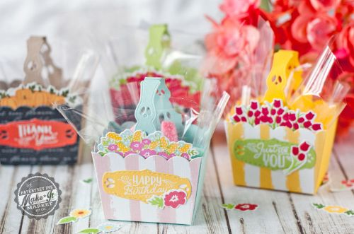 Floral Mini Baskets by Betsy Veldman for Papertrey Ink (May 2017)