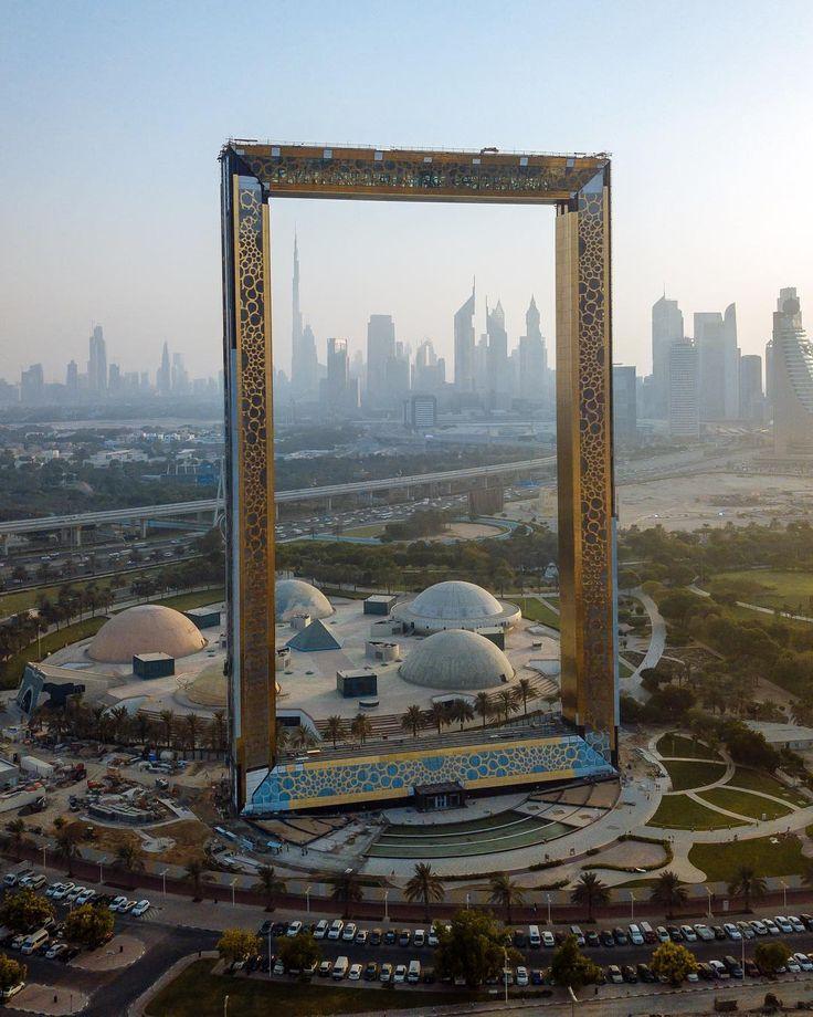 Dubai Frame... constructed between the old dubai and new dubai... NOTE: Dubai is state of UAE. - Hamza