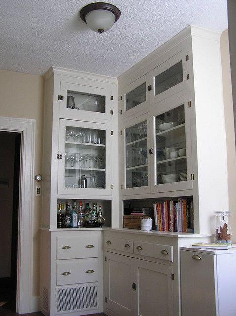 Butler's pantry / original kitchen cabinets